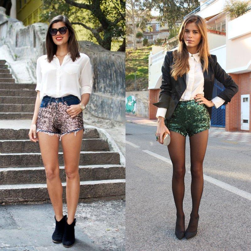 Stijlvolle pailletten shorts