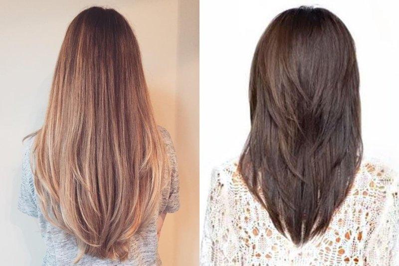 Schuin lang haar