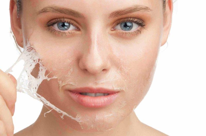 Gelatine gezichtsmasker