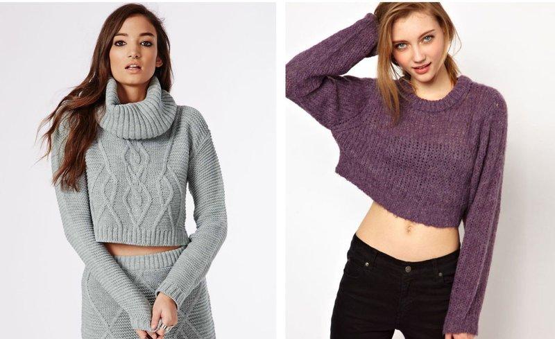 Variaties van crop sweaters