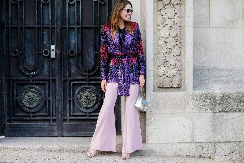 Roze wijd uitlopende broek