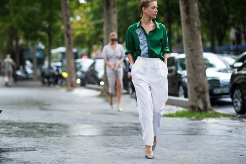 Witte broek met zakken