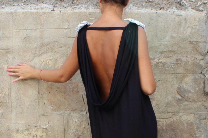 Griekse jurk zonder rug