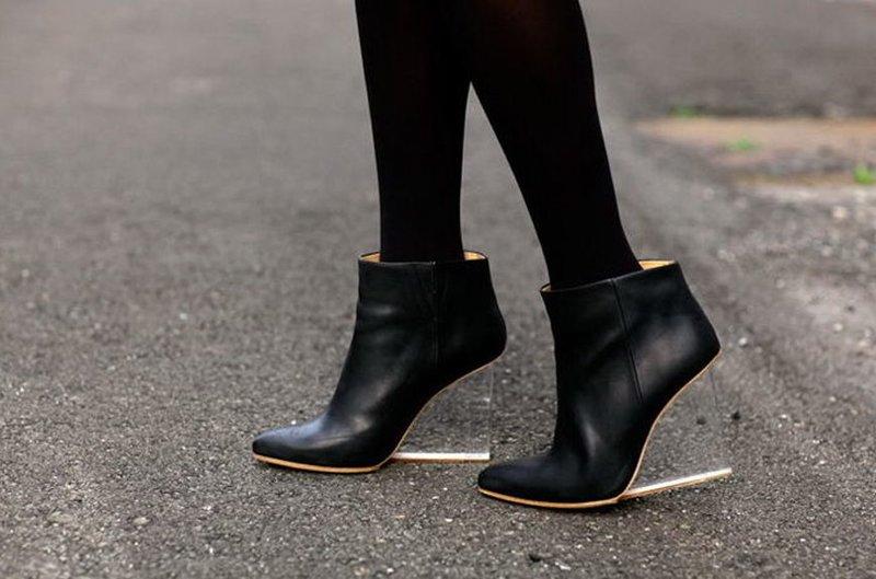 Rudens-žiemos batai: skaidri platforma