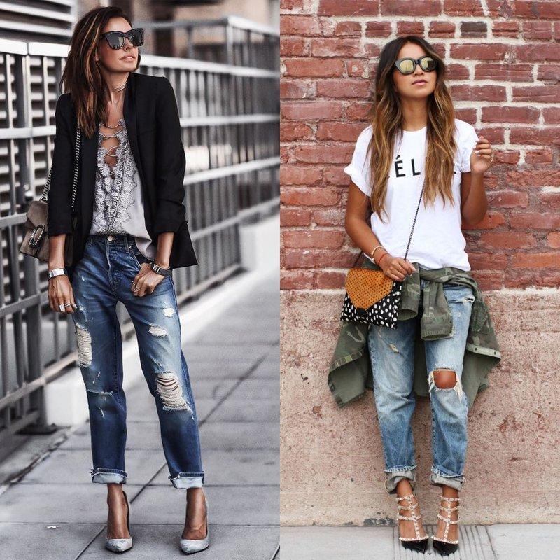 Mooie meisjes in vriendje jeans