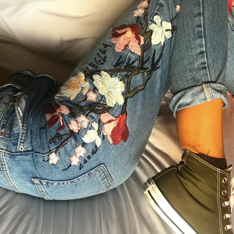 Decor jeans borduurwerk