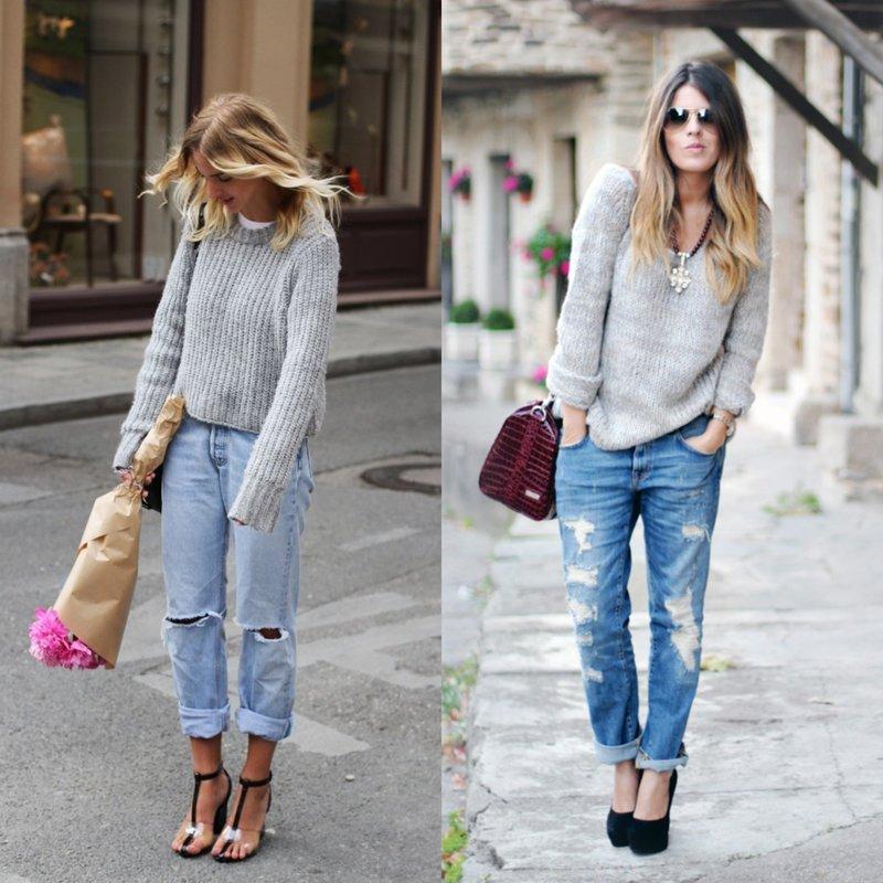 Dames jeans vriendjes met een trui