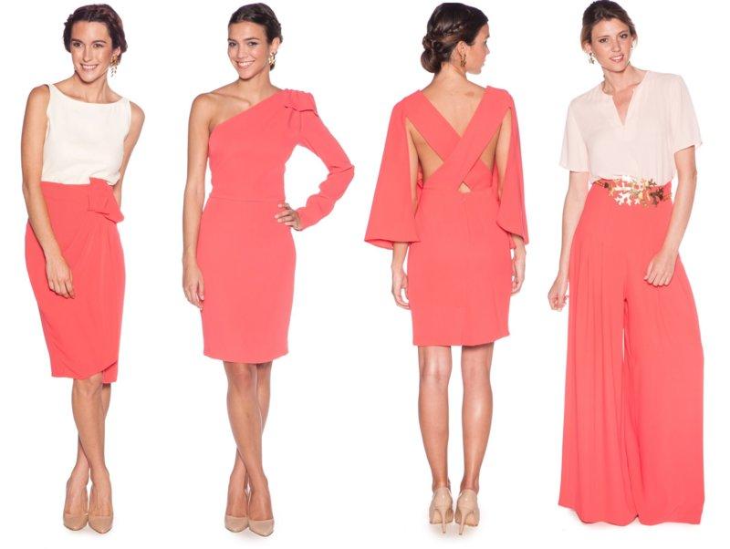 Koraalkleur in kleding