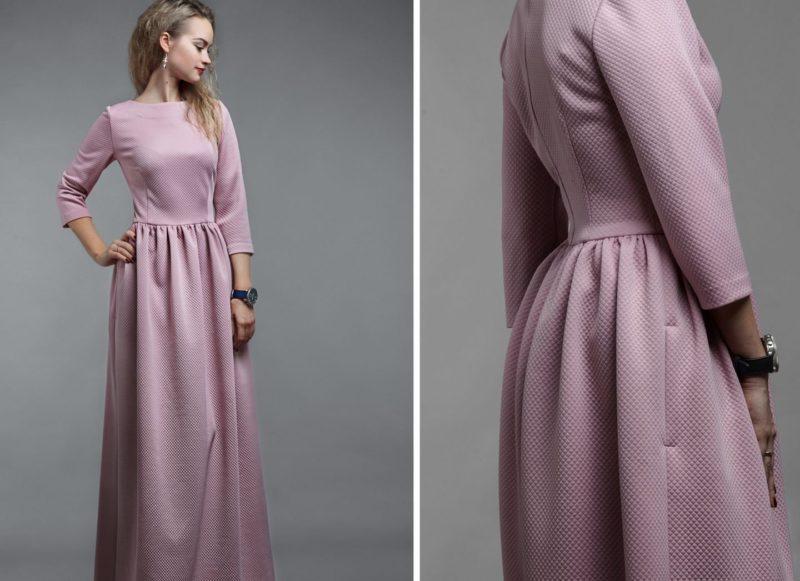 Roze jurk met zakken