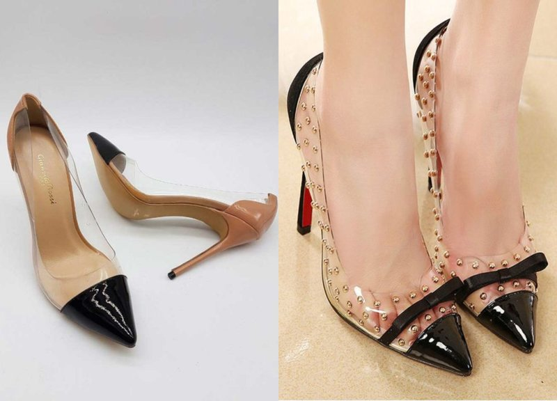 Elegantiški batai su skaidriais elementais