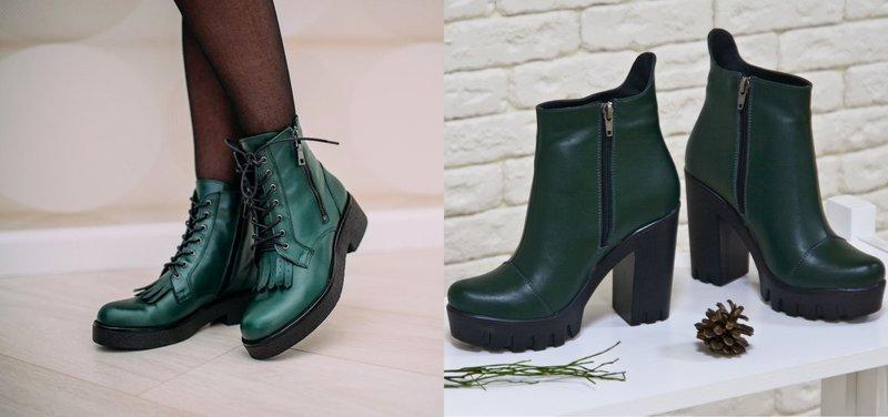 Mėlynai žali rudens žieminiai batai