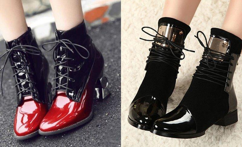 Stilingi lakinės odos rudens batai