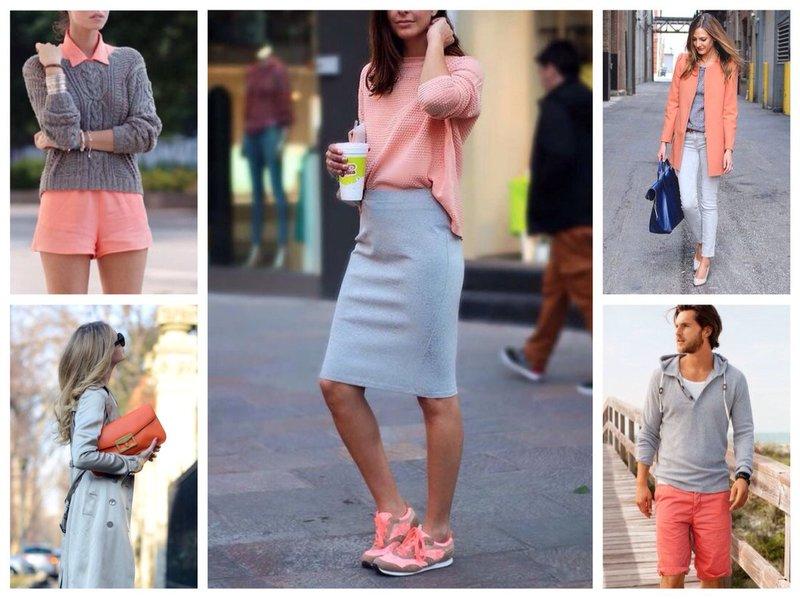 Trendy uiterlijk met levendige koraalkleur.