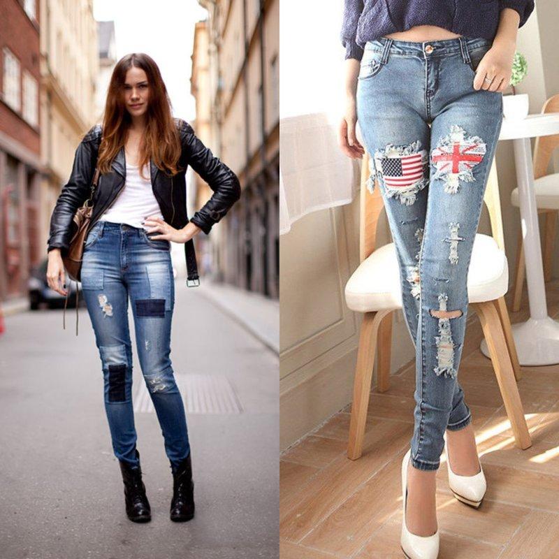Modieuze jeans met extra decor