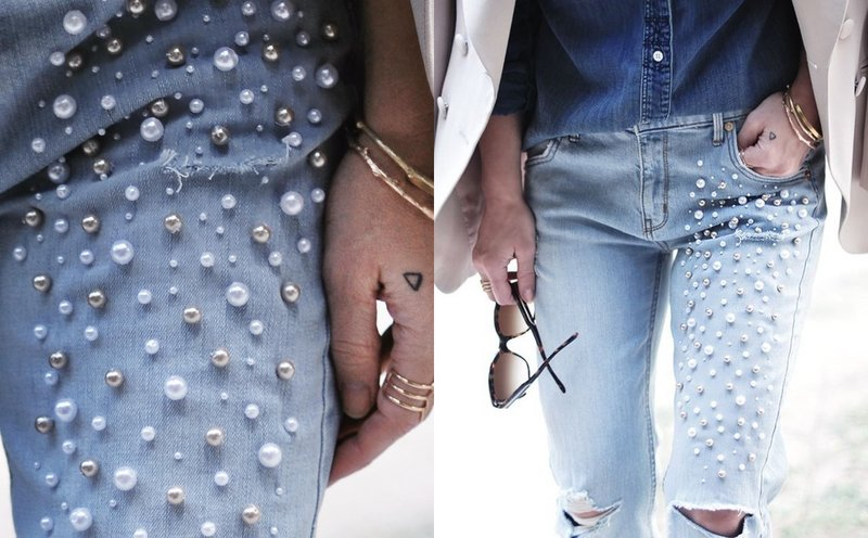 Extra decor op jeans