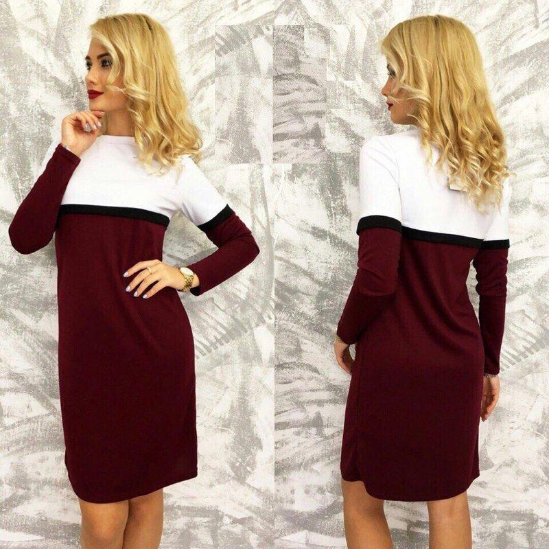 Tweekleurige jurk voor de winter