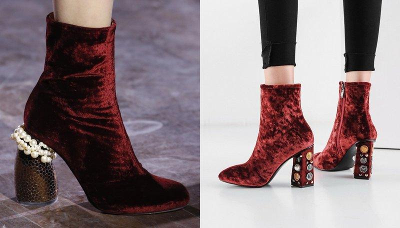 Išgalvoti aksominių batų modeliai