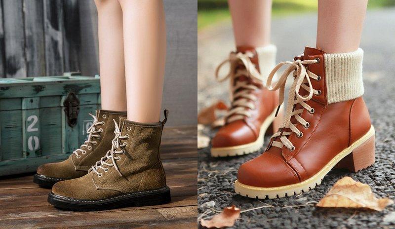 Gražūs rudeniniai batai su raišteliais