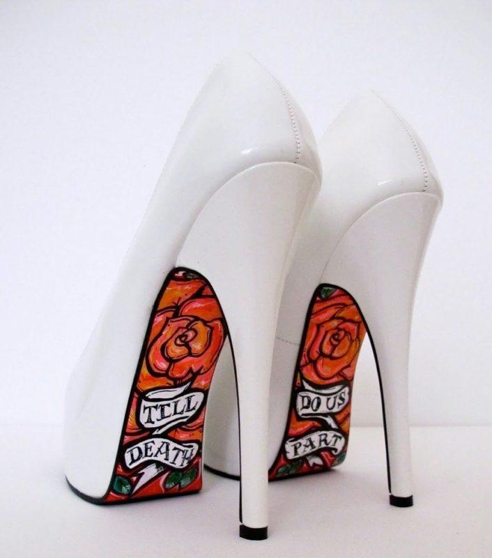 Schoenen met artistieke zolen