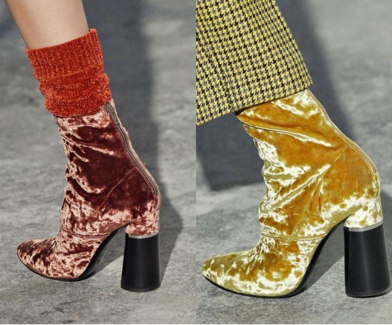 Ryškūs aksominiai rudens batai