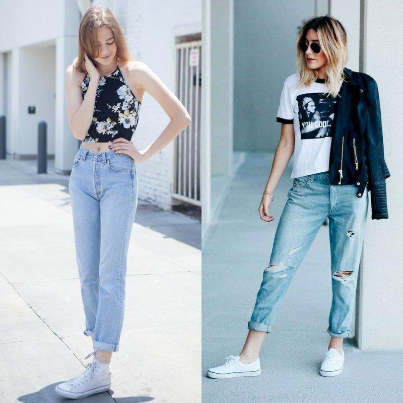Stijlvolle meisjes in modieuze jeans