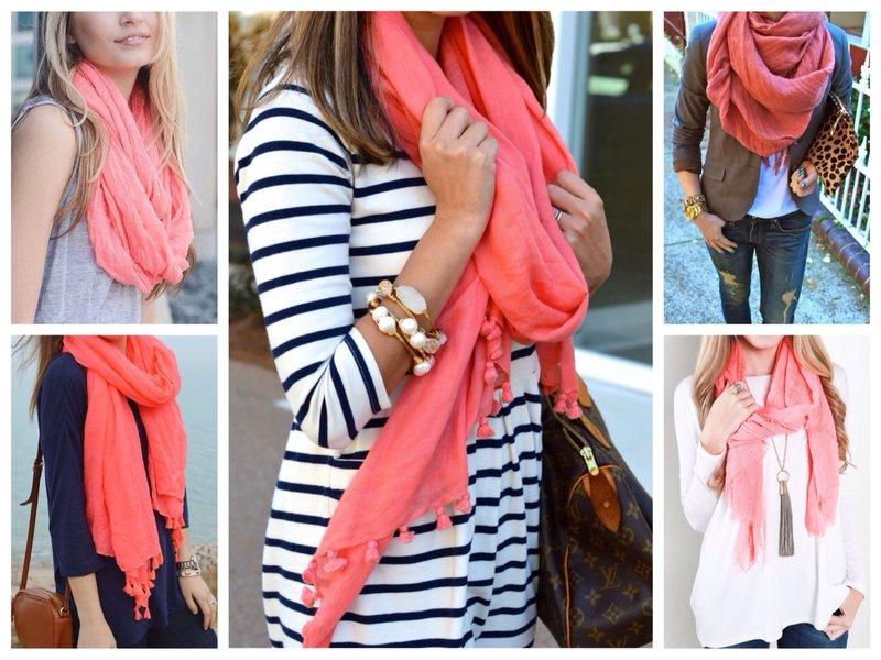 Coral sjaals