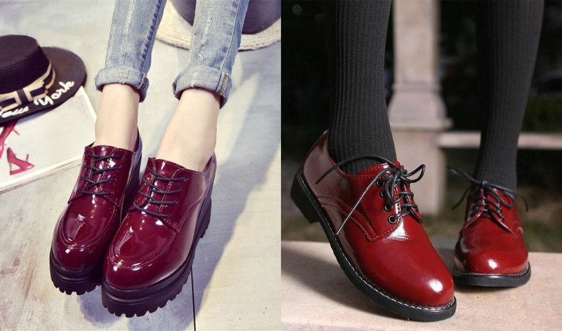 Lakinės odos batai rudenį