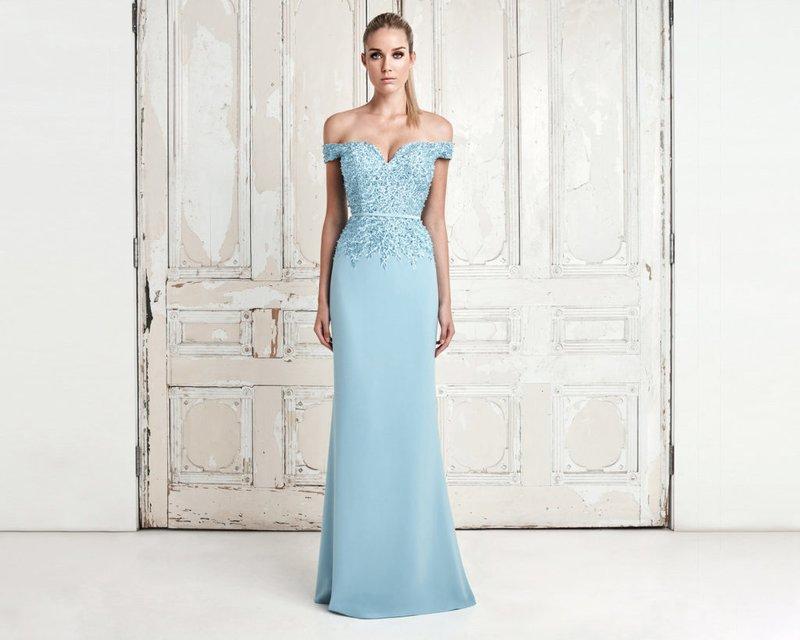 Avond blauwe jurk