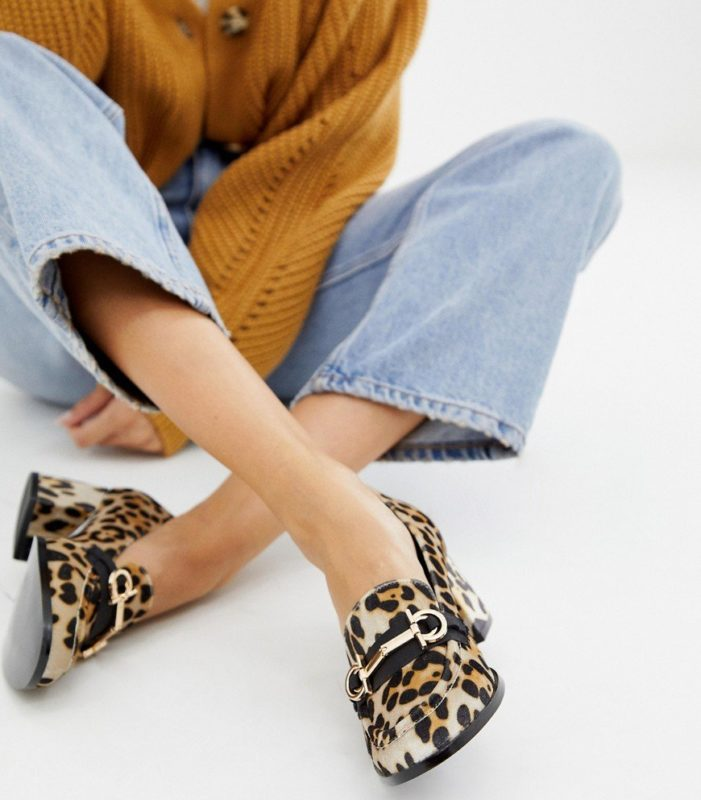 Loafer meisje met dierenprint