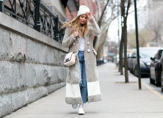 Beau manteau gris