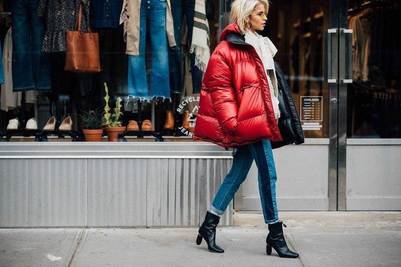 Rode oversized jas