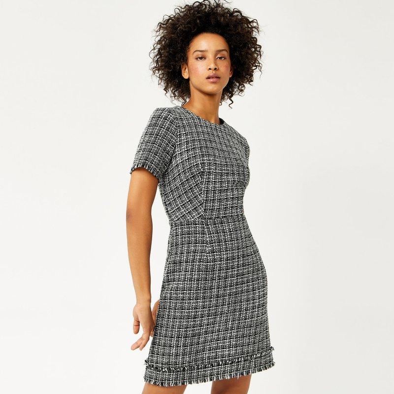 Modieuze tweed-jurk