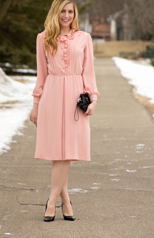 Lichtroze jurk