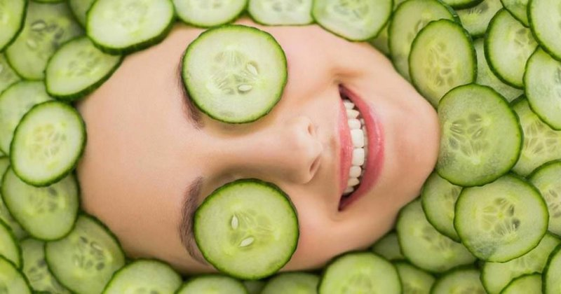 Komkommer masker