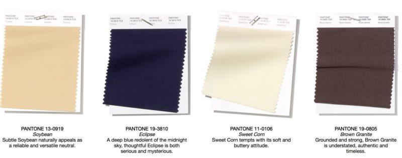 4 neutrale kleuren van Panton