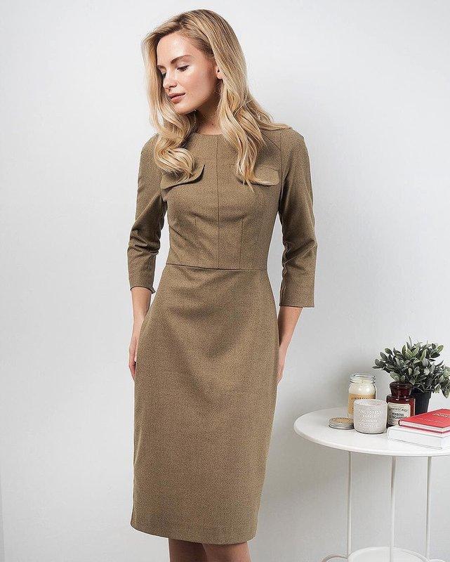 Sand schede jurk