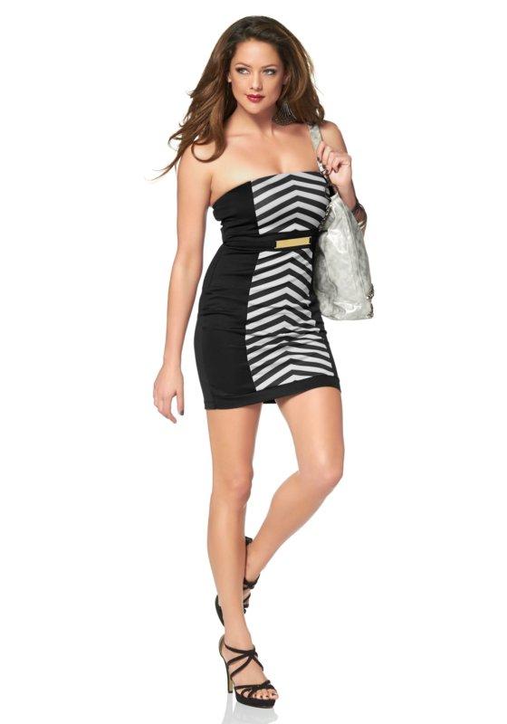 Bandeau-jurk met riem