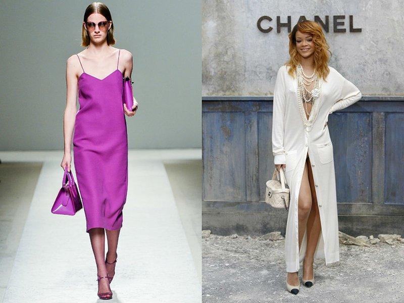 Suknelės lininis stilius