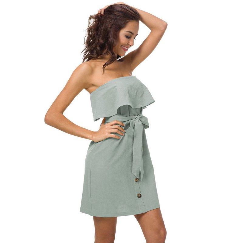 Laisvalaikio suknelė be petnešėlių