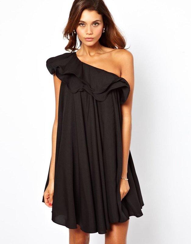Een schouder casual jurk