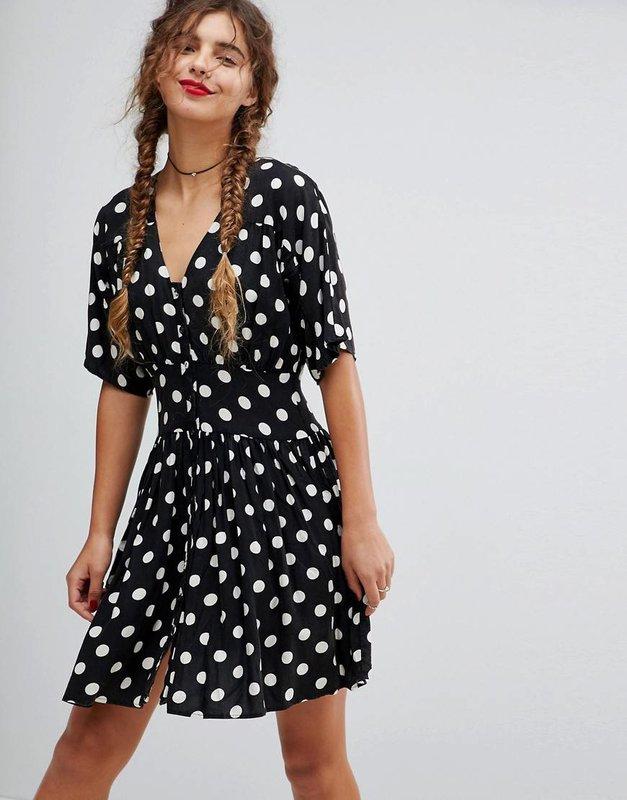 Doorzichtige polka dot jurk