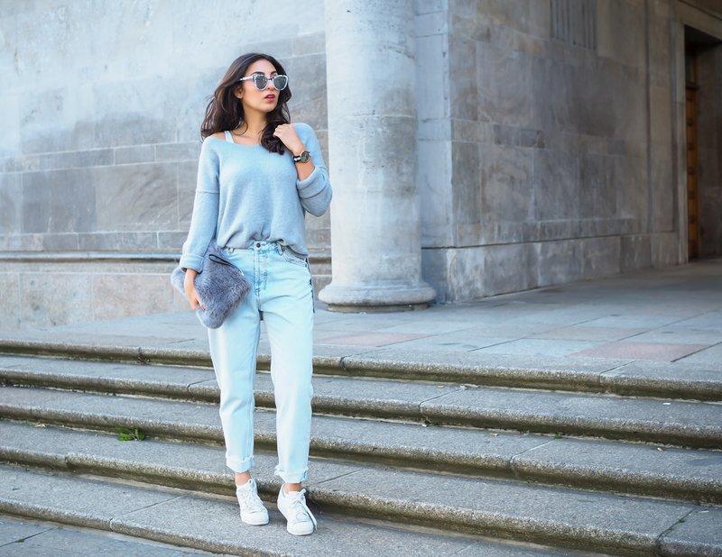 Fashion modellen moeders jeans