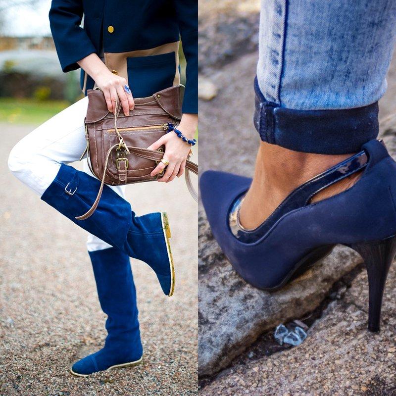 Stilingi madingi mėlyni batai