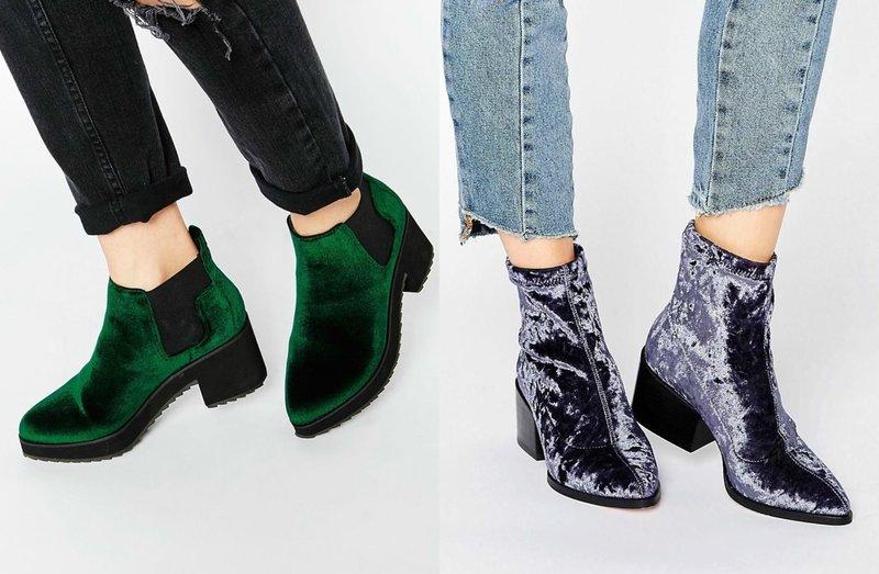 Aksominiai batai: mados modeliai ir dabartinės spalvos