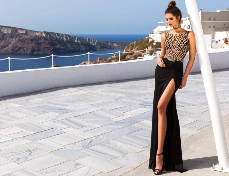 Elegante jurk met een split
