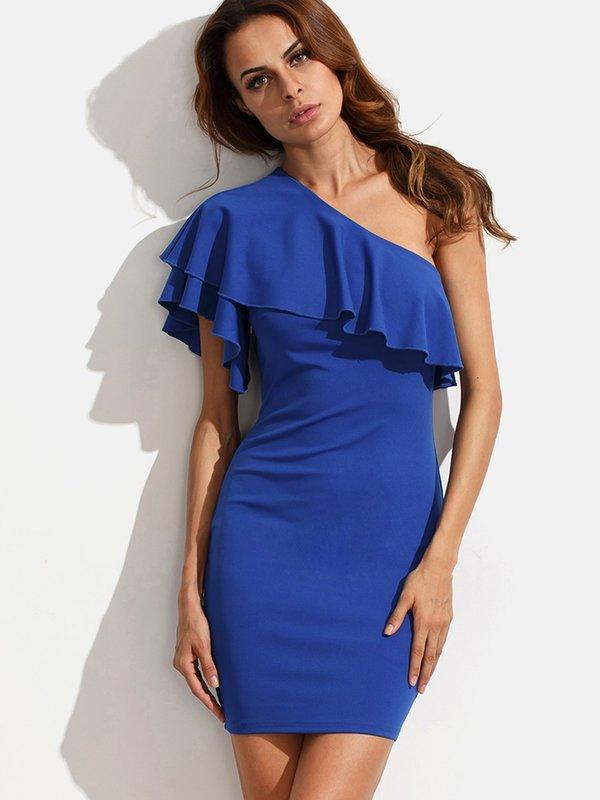 Blauwe jurk voor elke dag