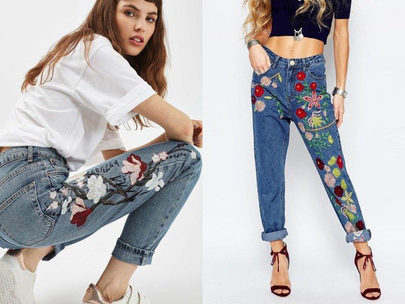 Stijlvolle jeansmodellen met decor
