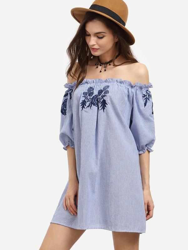 Stijlvolle off shoulder jurk