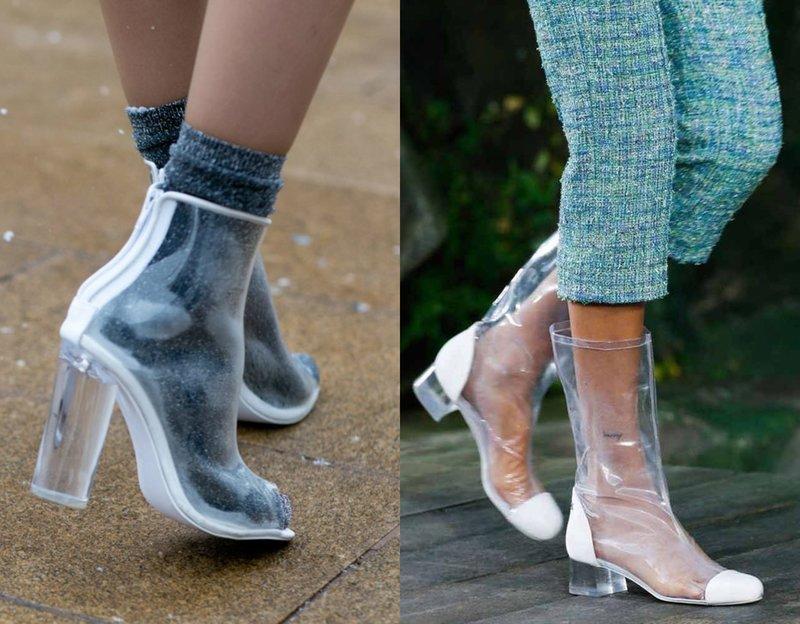 Skaidrūs batai rudeniui