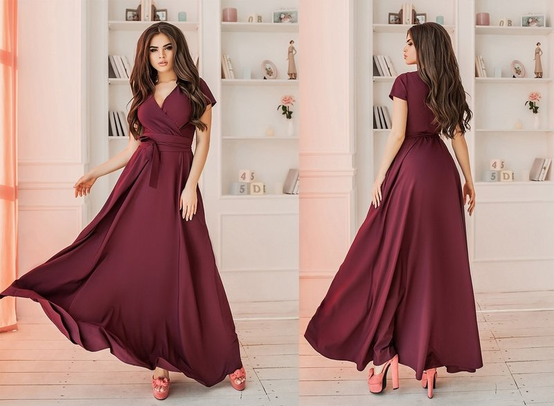 Bordeauxrode jurk